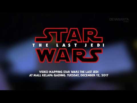 VIDEO MAPPING STAR WARS THE LAST JEDI