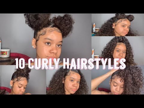 10 Hairstyles For Curly Hair   Natural Hair