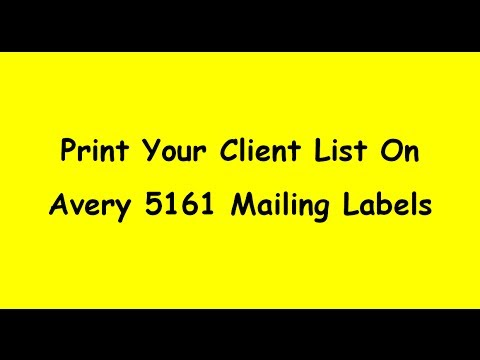 Print Client List onto Avery 5161 Labels