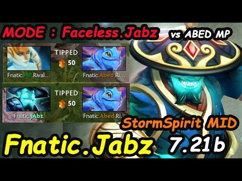 Fnatic Jabz - [Storm Spirit] MID MODE : Faceless.Jabz vs Abed MP | Dota 2 EU Ranked 7.21 b