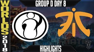 IG vs FNC Highlights | Worlds 2018 Group D Day 8 | Invictus Gaming(LPL) vs Fnatic(EULCS)