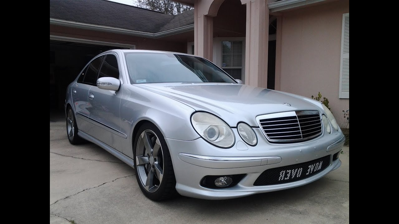 2006 Mercedes Benz E55 AMG Top Speed Run - YouTube