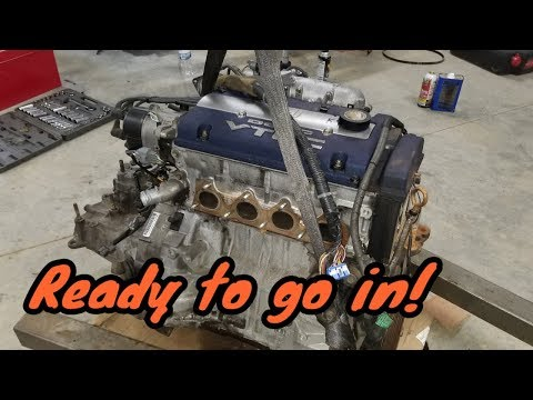 H23A Engine Gets Mated With A Prelude Trans | Wiring Done