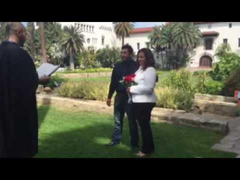 My wedding day in Santa Barbara