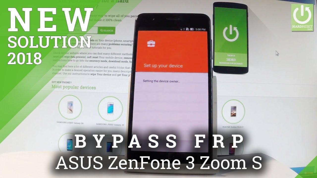 Bypass Google Account In Asus Zenfone 3 Zoom S Skip Google
