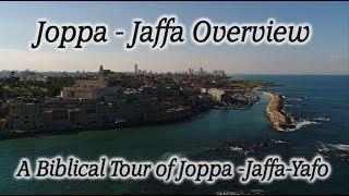 Joppa - Jaffa - Yafo, Israel! Biblical Overview in 4k, Drone!