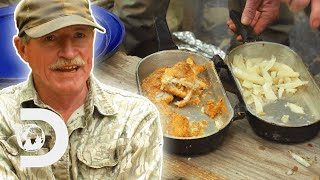 Making Fish & Chips Moonshiners Style | Moonshiners