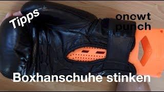 Boxhadschuhe stinken! Richtig trocknen beste Pflege nach dem Training. One Two Punch Tipps.