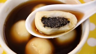 How to make Glutinous Rice Balls in Sweet Ginger Soup บัวลอยน้ำขิง (tangyuan-湯圓)
