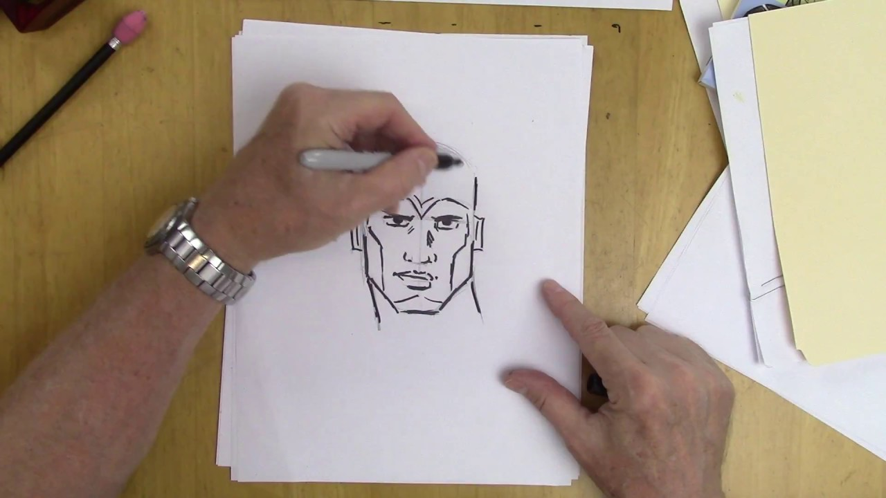 How To Draw A Superhero For Beginners Youtube