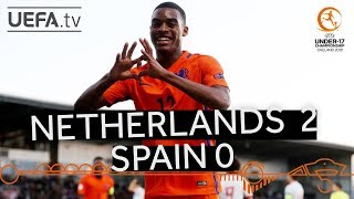 U17 highlights: Netherlands v Spain