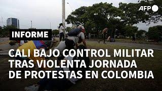 Cali, bajo control militar tras la jornada más violenta del estallido social en Colombia | AFP
