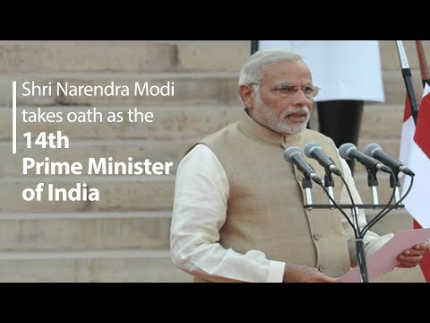 Narendra Modi takes oath as the Prime Minister of India