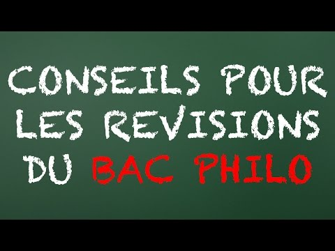 Petits conseils pour les révisions de Bac Philo - Cyrus North