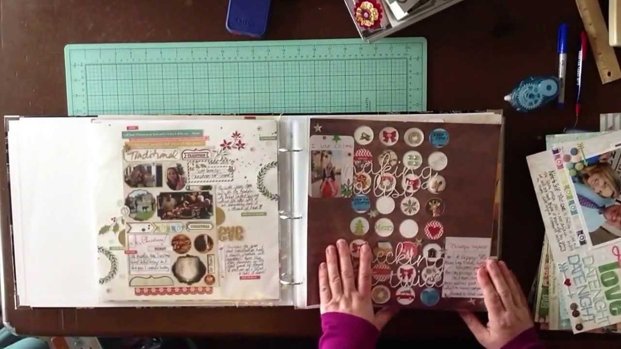 2014 Scrapbook Album Share: Organizing Scrapbook Layouts / Library Of Memories / Photo Freedom