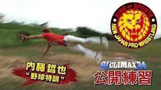2014年7月18日 G1 CLIMAX 24 内藤哲也公開練習 前年度『G1』覇者・内藤...