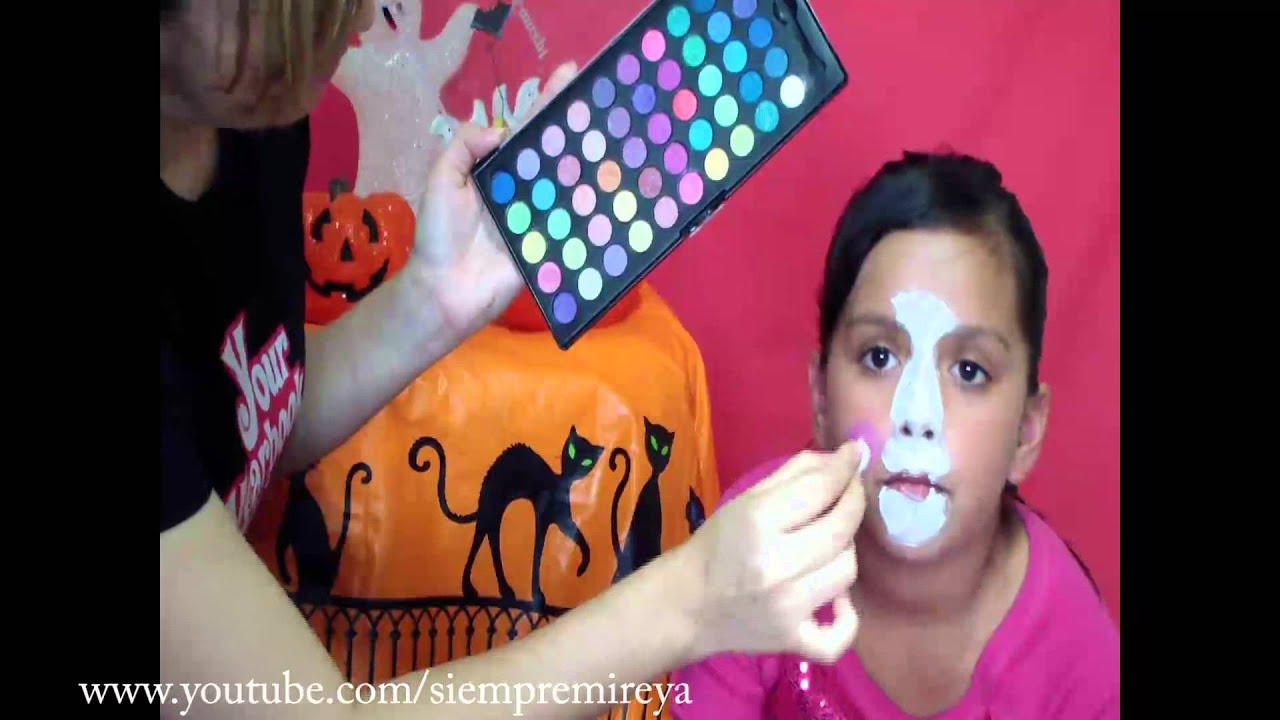 como pintar la cara como una conejita - YouTube