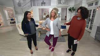AnyBody Loungwear Cozy Knit French Terry Cardigan on QVC