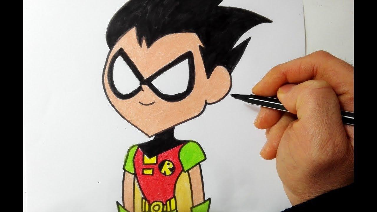 Come Disegnare E Colorare Robin Dei Teen Titans Go Youtube