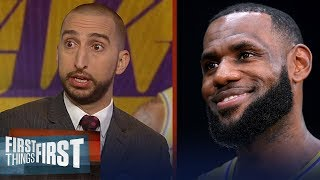 Nick and Cris react to LeBron being the favorite to win MVP this season | NBA | FIRST THINGS FIRST