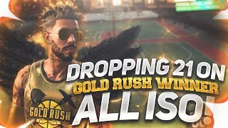 NBA 2K19 I DROPPED 21 POINTS ON A 97 OVERALL GOLD RUSH WINNER ALL ISO