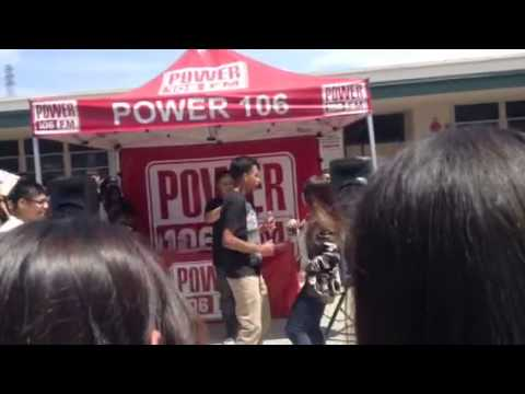 Power 106 at schurr highschool