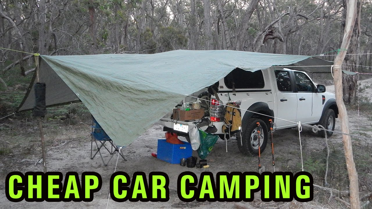cheap diy car camping setup  4wd campsite