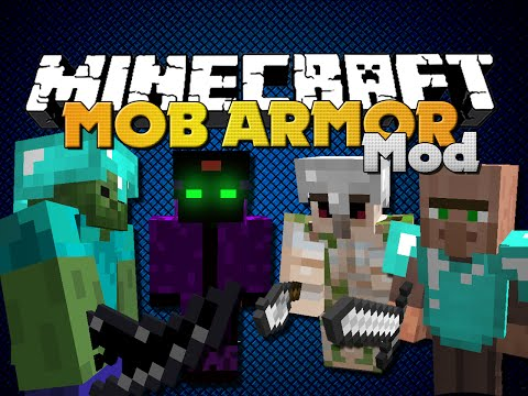 Minecraft - MOB ARMOR MOD - NEW ARMOR, WEAPONS AND BOSSES