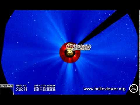 SWAP 174, LASCO C2/C3 (2013-11-25 15:39:49 - 2013-11-26 13:36:53 UTC)