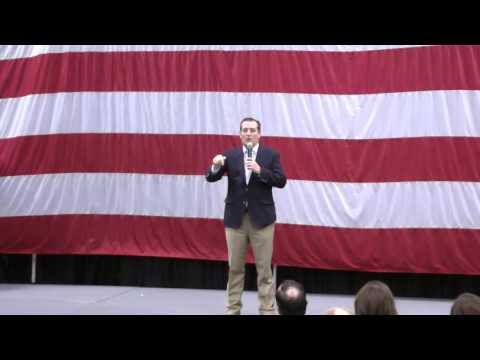 Ted Cruz and Mike Lee speaking at campaign event for US Sen. Mike Lee's re-election