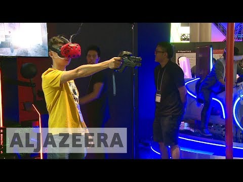 Virtual reality highlight of Tokyo Game Show convention