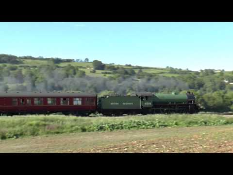61306 `Mayflower` 1z66 The Cathedrals Express @ Newton st Loe 04-05-15