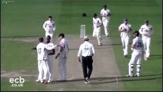 Cook and Rabada battle it out, Essex v Kent, Day One