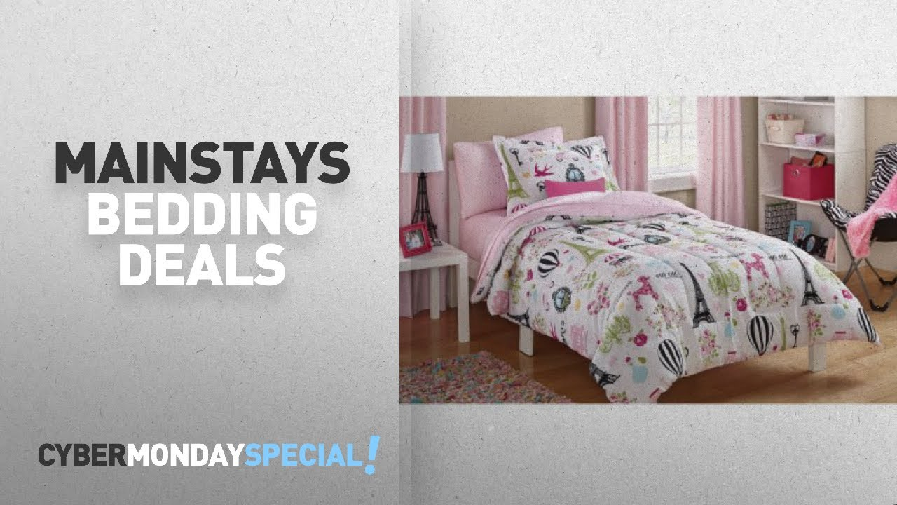 ca392647434de Walmart Top Cyber Monday Mainstays Bedding Deals  Mainstays Kids Paris Bed  in a Bag Bedding Set