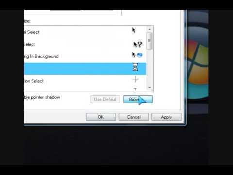 how to change cursor vista