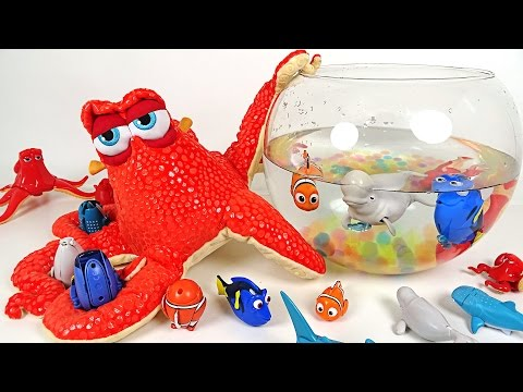 Thumbnail: Disney Pixar Finding Dory - Giant Hank and Transforming eggs Dory, Nemo Toy play - DuDuPopTOY
