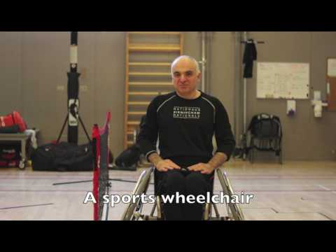 What equipment is needed to play wheelchair tennis?