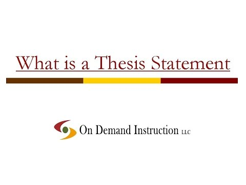 Finding thesis statement