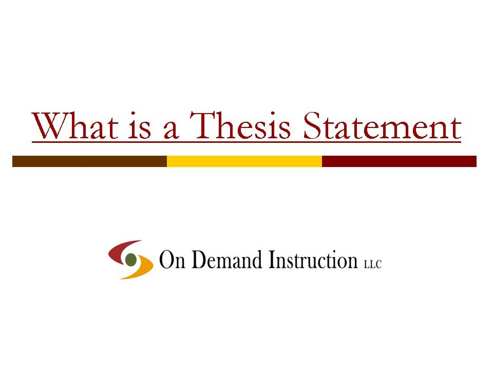 What is a Thesis Statement - YouTube