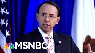 What Will Happen To The Mueller Probe If Rod Rosenstein Is Gone? | Velshi & Ruhle | MSNBC
