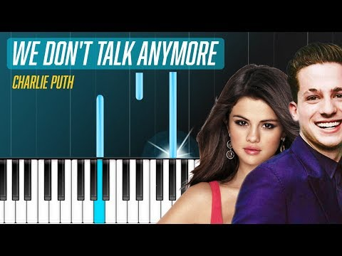 Charlie Puth We Dont Talk Anymore Ft Selena Gomez Piano