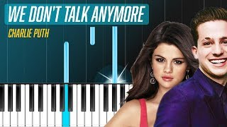 charlie puth we don t talk anymore ft selena gomez piano tutorial chords how to play cover