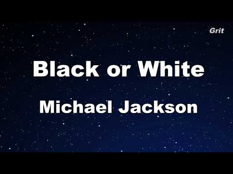 Black Or White - Michael Jackson Karaoke【With Guide Melody】