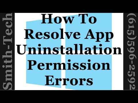 How To Fix You Do Not Have Sufficient Access To Uninstall A Program