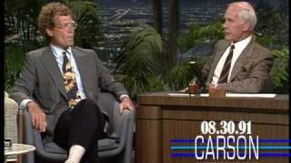 David Letterman Reveals His Feelings about Jay Leno Hosting Tonight Show, with Johnny Carson - 1991