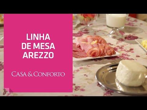 Linha de Mesa Arezzo Casa & Conforto   Shoptime