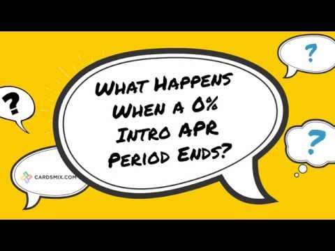What Happens When a 0% Intro APR Period Ends?