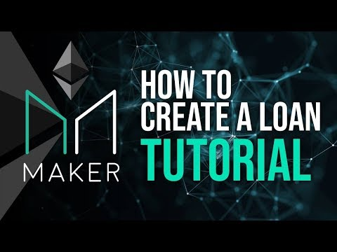 MakerDAO Tutorial - How To Create A Loan CPD