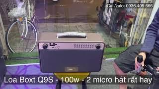 Anh khách hàng test loa Boxt q9s nghe nhạc và hát karaoke hay nhất trong tầm giá 5 triệu