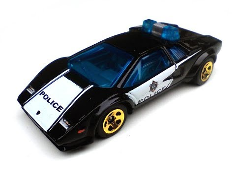 Lamborghini Countach Police Car Hot Wheels Diecast Model Youtube